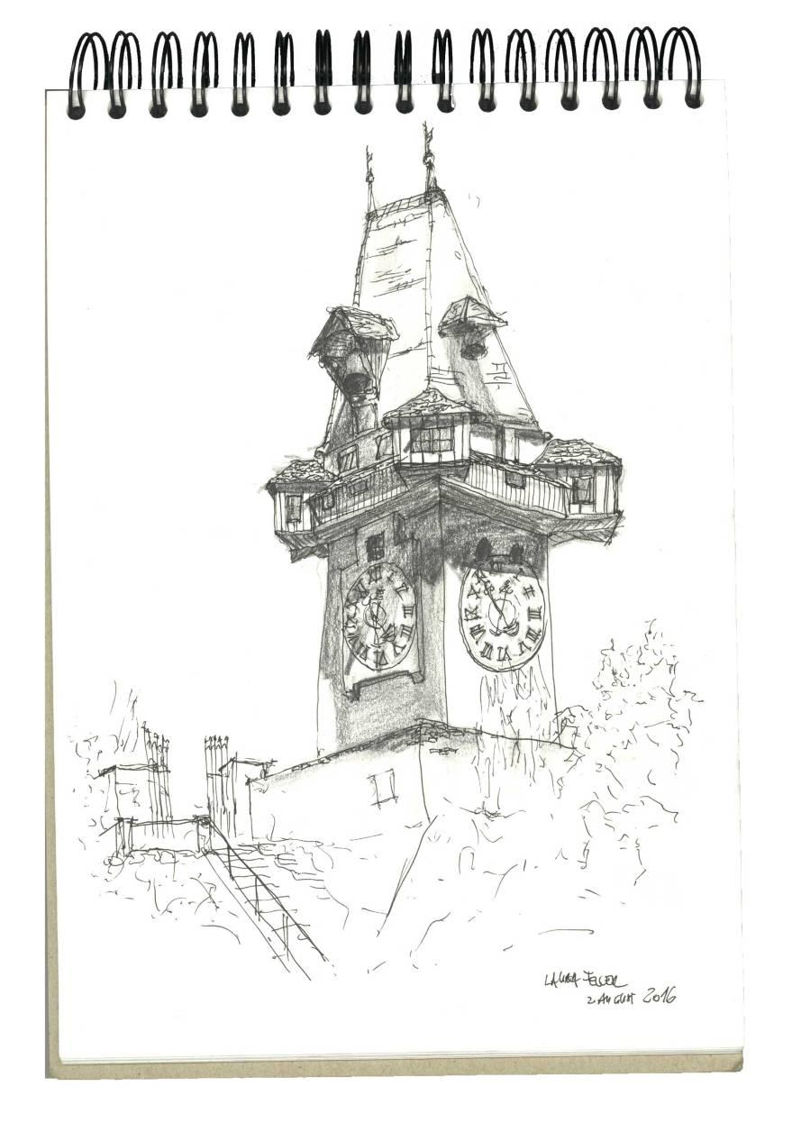 Uhrturm_Sketch